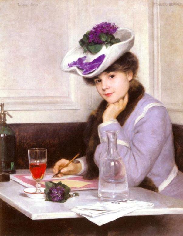 Что написать? Герман Феннер Бехмер (1866-1913), немецкий художник