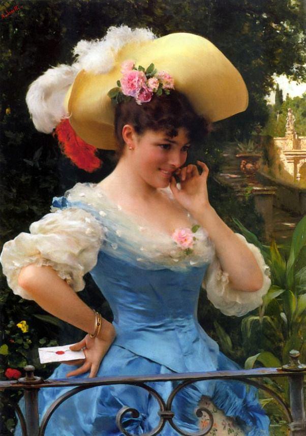 Любовное письмо. Федерико Андреотти (1847-1930), итальянский художник