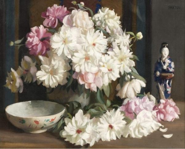 Натюрморт с пионами. Уильям Пакстон (1869-1941), американский художник и педагог.