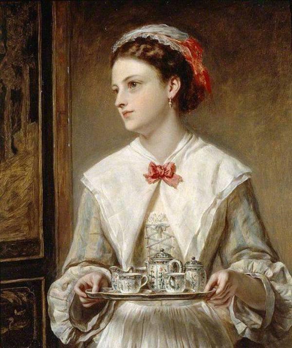Официантка, 1872. Джон Роберт Дикси (британский, 1817–1905)