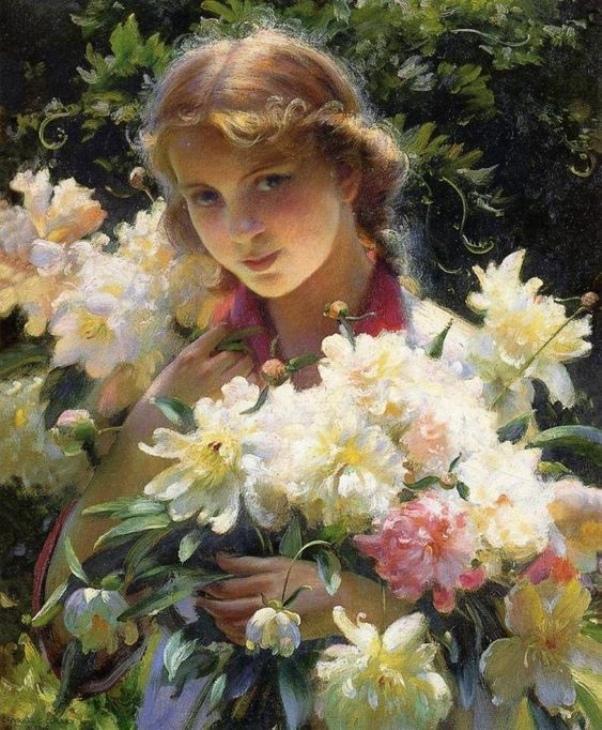 Пионы, 1915. Чарльз Кортни Каран (англ. Charles Courtney Curran, 1861-1942), американский художник