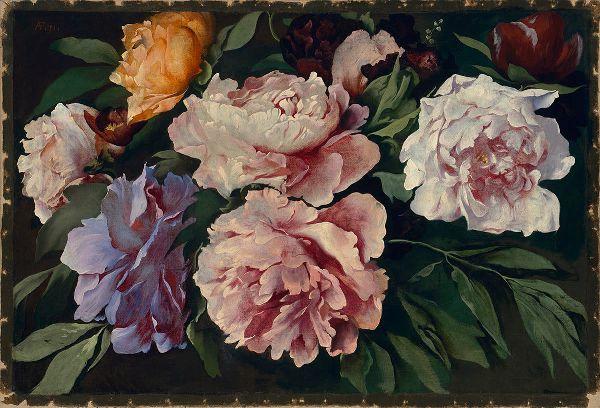 Пионы. Ансельм фон Фейербах (нем. Anselm von Feuerbach, 1829, Шпайер — 1880, Венеция), один из наиболее значительных немецких исторических живописцев XIX века.