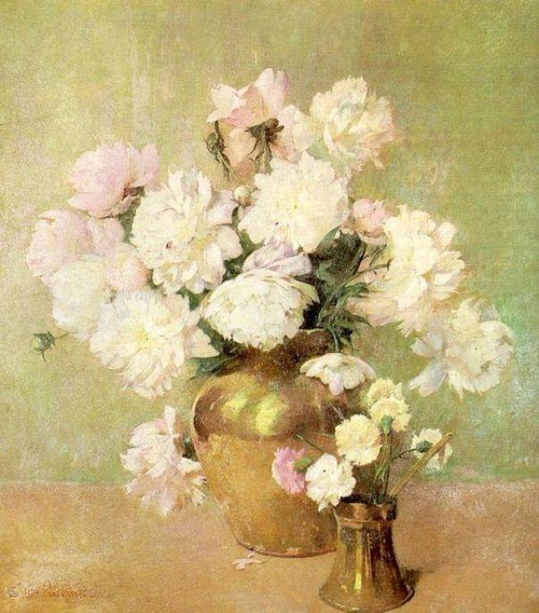 Пионы. Сорен Эмиль Карлсен (дат. Søren Emil Carlsen; 1853—1932), выдающийся американский художник датского происхождения