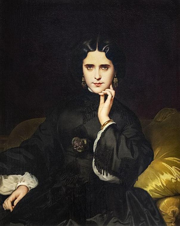 Портрет Жанны де Турбе, будущей графини де Луан, 1862, музей Орсе. Эжен-Эммануэль Амори-Дюваль (1808-1885), французский живописец.