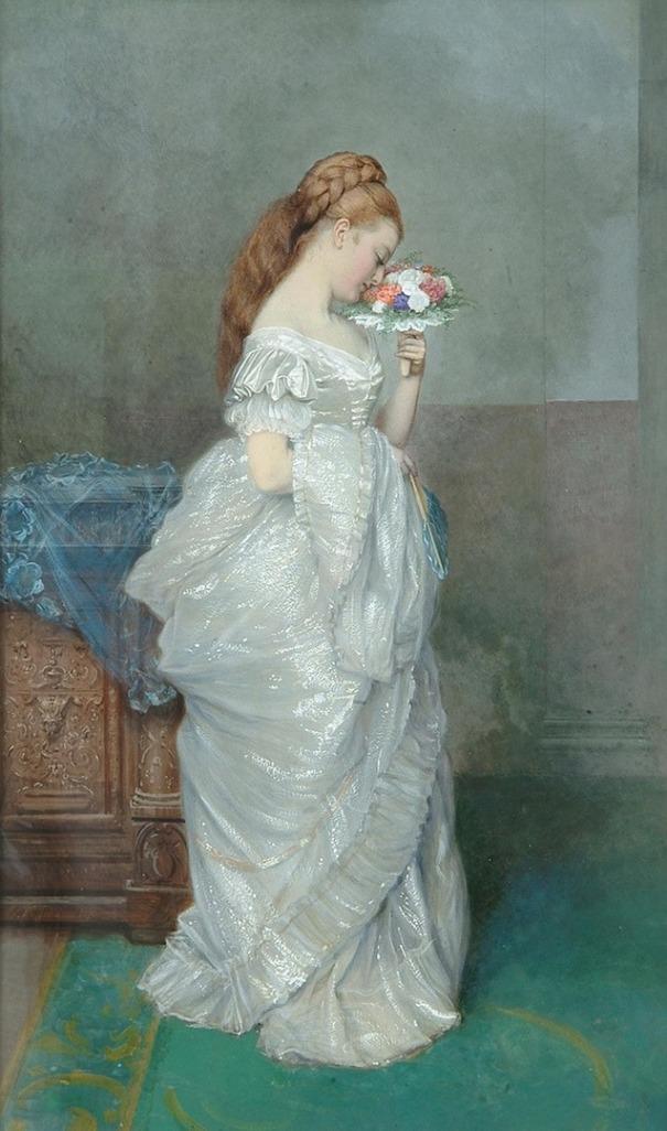 Розы. Едвард Киллингворт Джонсон (1825-1896), английский художник