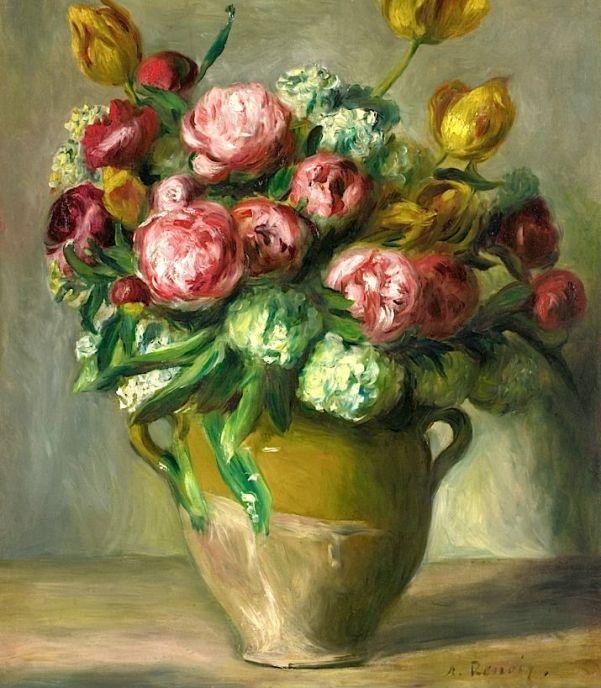Ваза с пионами, ок. 1872. Холст, масло. Пьер Огюст Ренуар (1841-1991), французский художник