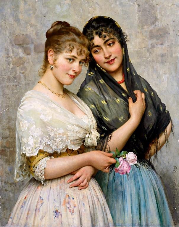 Венецианские красавицы. Эжен де Блаас (1843-1931), итальянский художник