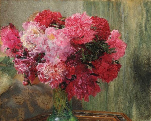 Японские пионы. Лоуренс Альма-Тадема (нидерл. Lourens Alma Tadema, англ. Lawrence Alma-Tadema; 1836-1912), нидерландский и британский художник
