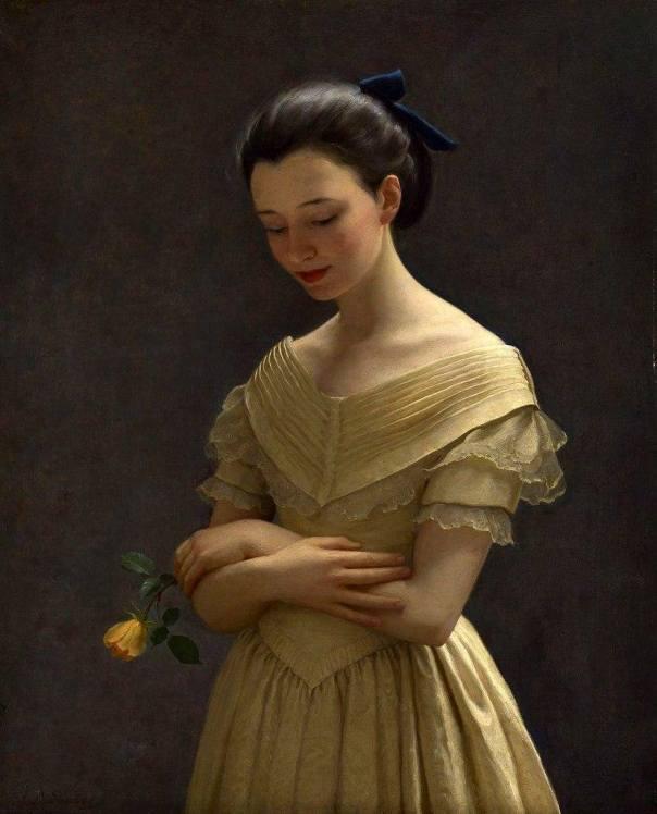 Жёлтое платье. Джон Баллок Саутер (1890-1972), британский художник
