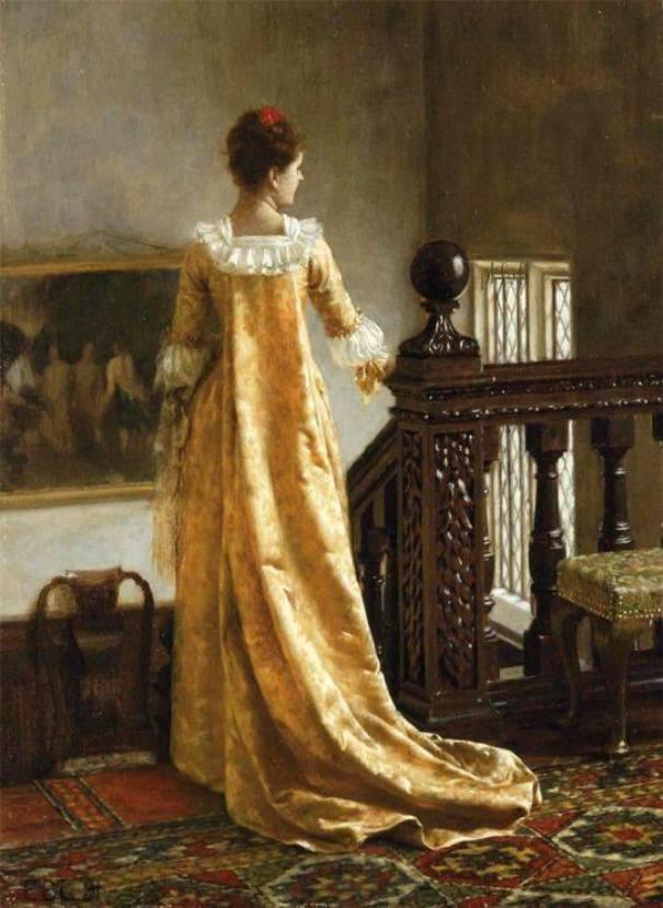 Золотистый шлейф. Эдмунд Блэр Лейтон (1852-1922), английский художник