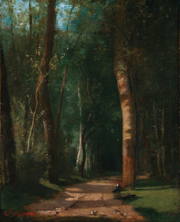 Дорога в лесу, 1859. Холст, масло. Камиль Писсарро (1830–1903), французский импрессионист. Частная коллекция