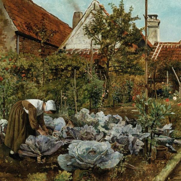 Фламандский огород, 1861. Анри де Брекелер