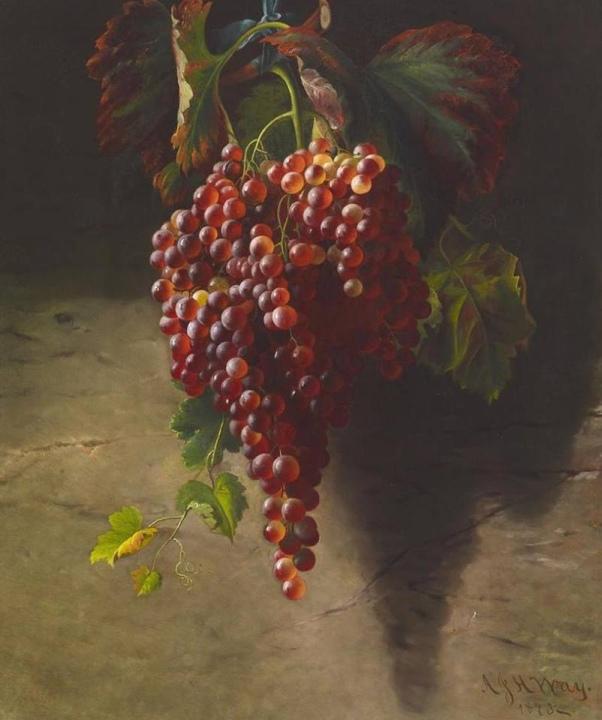 Натюрморт с гроздьями винограда, ок.1630-1635. Хуан Фернандес (1587-1657), испанский художник. Museo del Prado, Мадрид