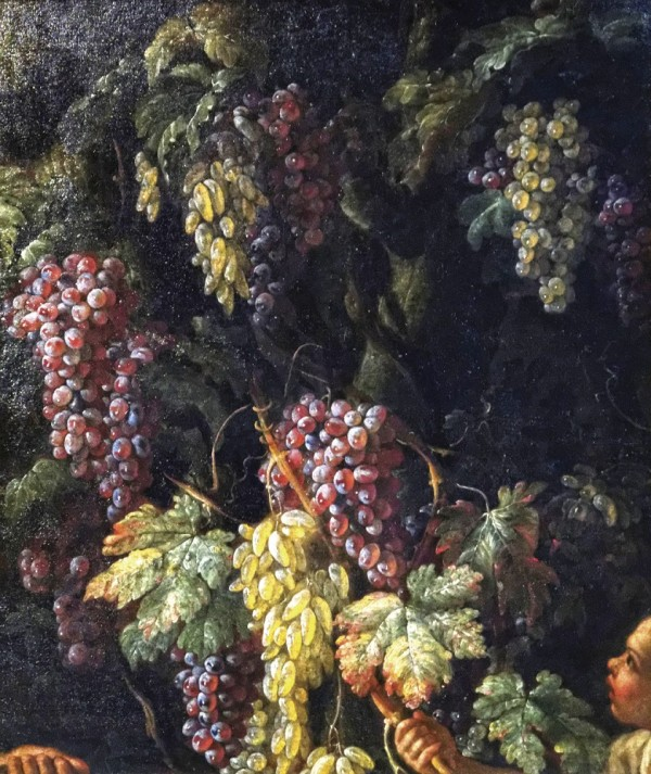 Грозди винограда, 1725. Холст, масло. Джованни Баттиста Руопполо (итал. Giovan Battista Ruoppolo, 1629-1693), итальянский художник. Музей Лувра, Париж