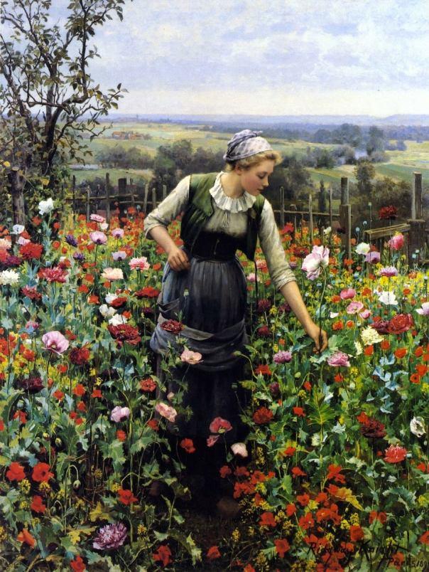 Июльское утро. 1899. Найт, Дэниел Риджуэй (1839-1924) — американский художник-реалист, представитель жанровой живописи.