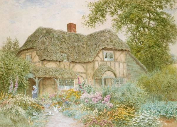 Коттедж в Суррее. Arthur Claude Strachan (1865-1935), английский художник