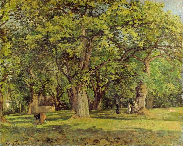 Лес, 1870. Камиль Писсарро (1830–1903), французский импрессионист. Художественная галерея Йоханнесбурга, ЮАР