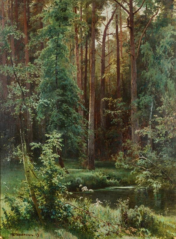 Лес, 1889. Иван Иванович Шишкин. Частное собрание