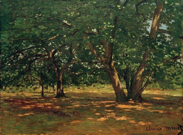 Лес Фонтенбло, 1865. Клод Моне