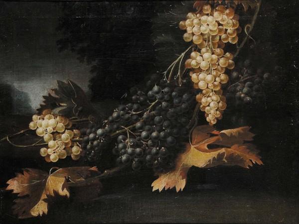 Натюрморт с виноградом, 18 век. Неизвестный художник