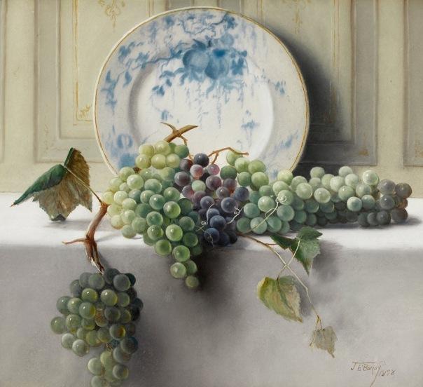 Натюрморт с виноградом, 1898. Джон Элвуд Банди (1853-1933), американский художник
