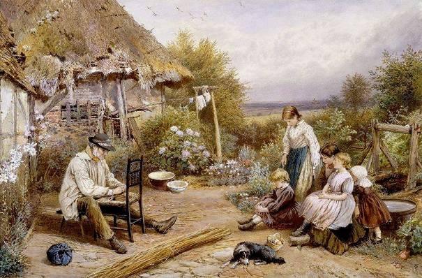 Починка стула. Майлз Бёркет Фостер (1825-1899), британский художник