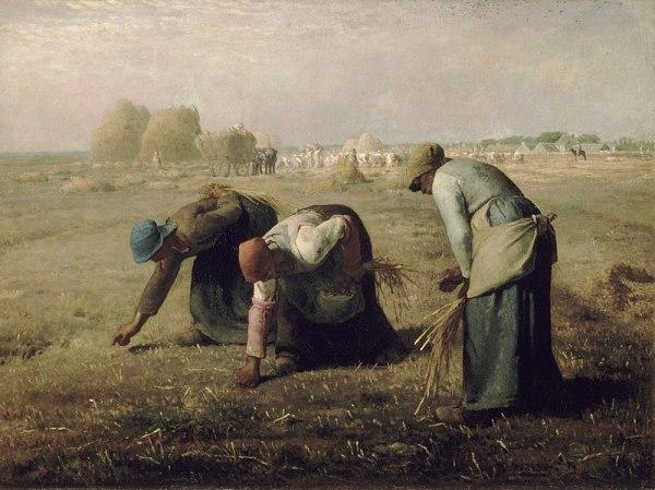 Сборщицы колосьев, 1857. Жан-Франсуа Милле́