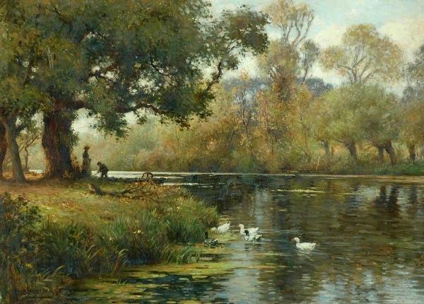 Сельский пейзаж. Уильям Кей Блэклок (1872-1924), британский художник. Музей замка Клифф, Англия