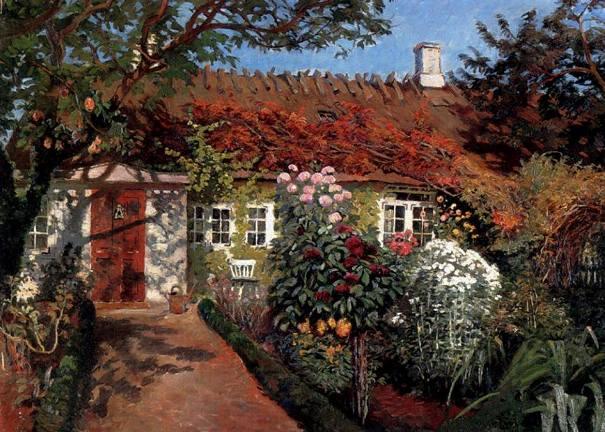 Загородный сад в полном цвету, 1915. Холст, масло. Olaf Viggo Peter Langer (немецко-датский художник, 1860-1942). Частная коллекция