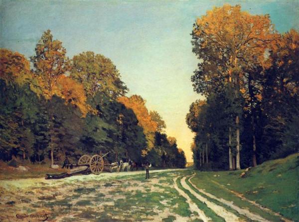 Дорога из Шайи в лесу Фонтенбло, 1864. Клод Моне