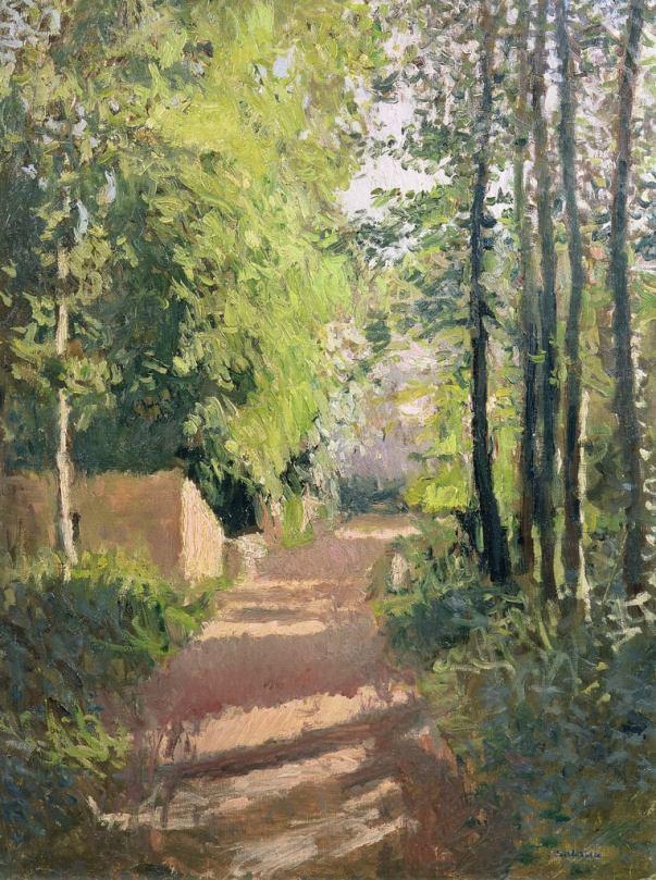Дорожка в лесу в Нормандии. Гюстав Кайботт (фр. Gustave Caillebotte; 1848-1894), французский коллекционер и художник, представитель импрессионизма. Один из «отцов филателии».