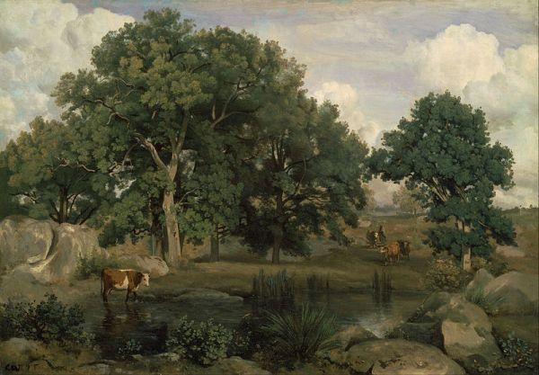 Лес Фонтенбло, 1846. Жан-Батист-Камиль Коро (1796-1875), французский художник. Museum of Fine Arts, Boston