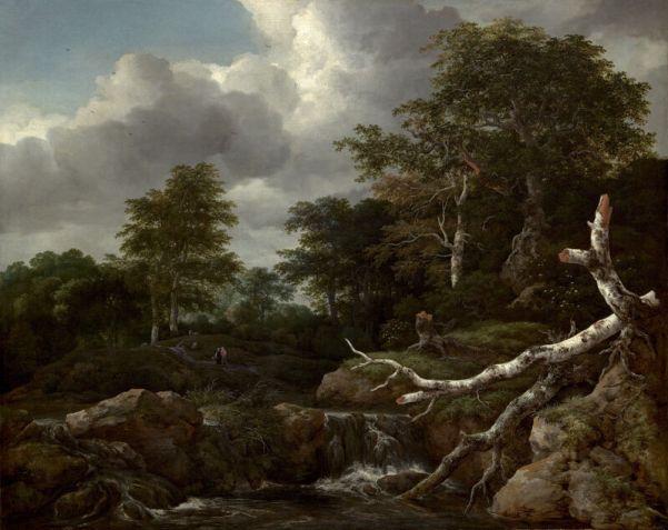 Лесной пейзаж, 1655. Якоб Исааксоон ван Рейсдал (ок. 1629-1682), голландский художник