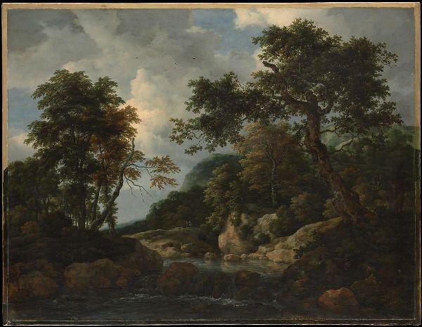 Лесной ручей, ок. 1660. Якоб ван Рейсдал