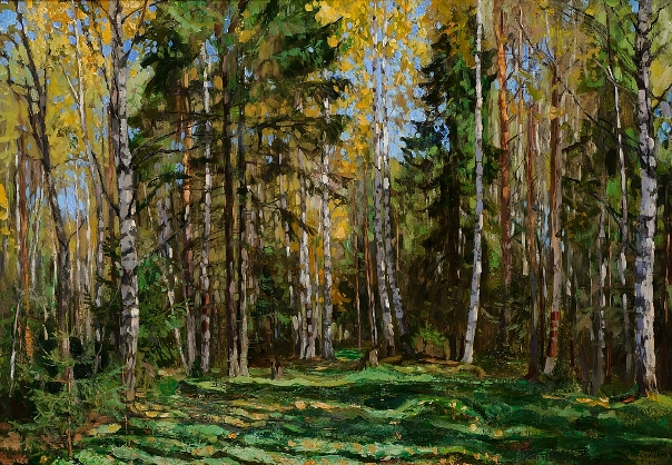 Осенний лес, 1911. Холст, масло. Станислав Юлианович Жуковский