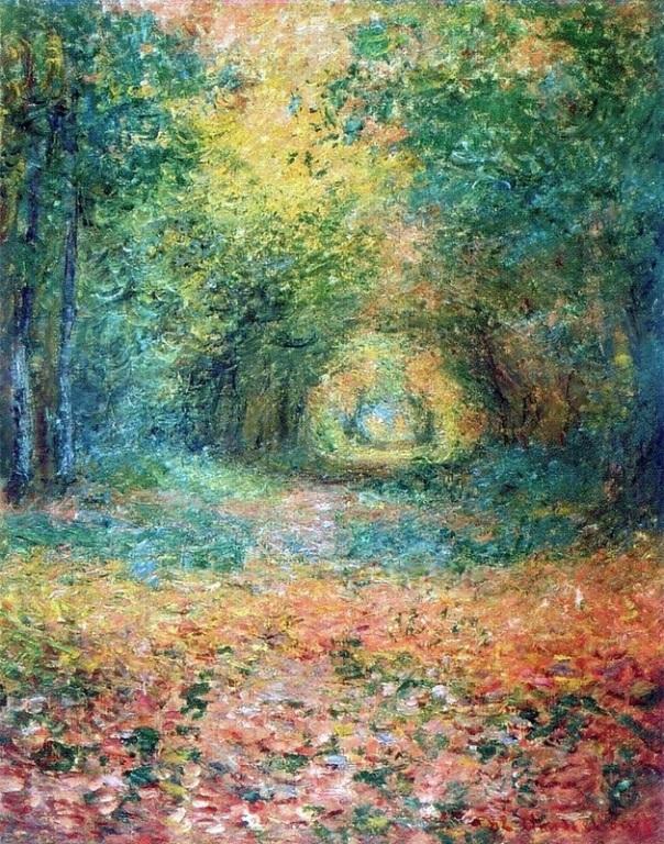 Подлесок в лесу Сен-Жермен, 1882. Клод Моне (1840-1926), французский художник