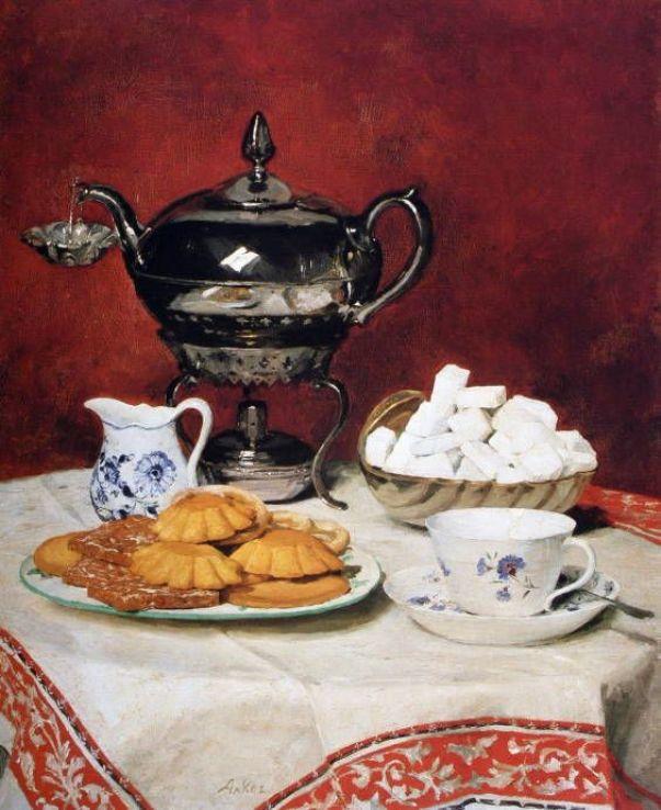 Чай с печеньем. Альберт Анкер