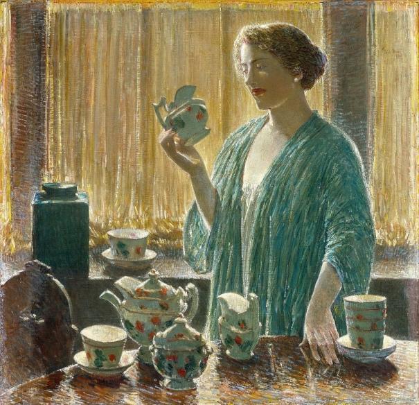 Клубничный чайный сервиз, 1912. Чайльд Хассам